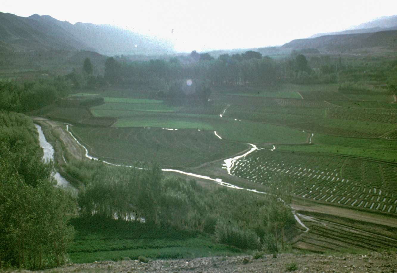 landscape photograph made near Bamiyan, Afghanistan about 1970